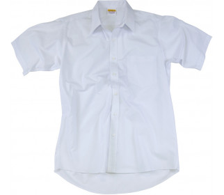 Short sleeve shirt with stand collar