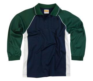 Raglan Long Sleeve Polo