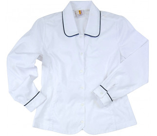Long Sleeve Blouse with piping