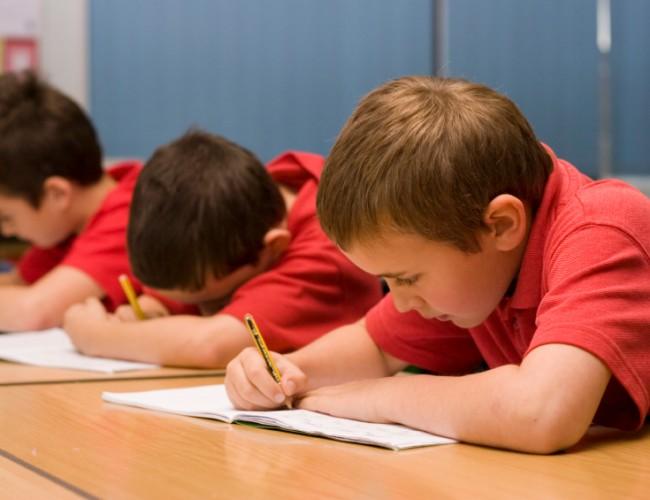Boys in school uniform