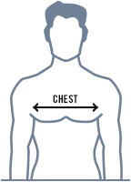 size guide chest graphic - Raglan Long Sleeve Polo