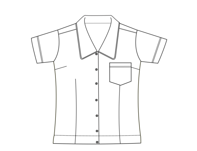 01.Blouse2 650x500 - Classic Fitted Blouse